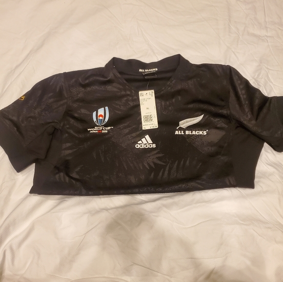 adidas Other - NWT Adidas All Blacks Rugby World Cup Japan Jersey